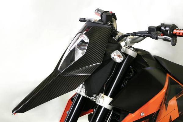 CARBON DRY カーボンドライ ヘッドライト本体・ライトリム/ケース ヘッドライトカバーfor KTM 690SM カラー:セミグロス(艶なし) 690SM