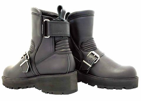 KADOYA カドヤ オンロードブーツ BLACK ANKLE-A [K'S LEATHER] ブーツ サイズ:22.5cm
