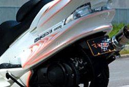 才谷屋 サイタニヤ スクーター外装 リアアンダースポイラー 純正色 カラー:純正色パールグラスホワイト SKYWAVE250 [スカイウェイブ]