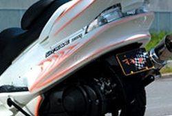 才谷屋 サイタニヤ スクーター外装 リアアンダースポイラー 純正色 カラー:純正色マッドブラック SKYWAVE250 [スカイウェイブ]