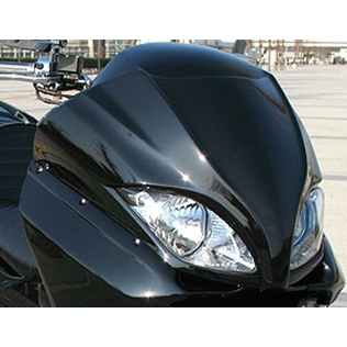 VIVIDPOWER ビビッドパワー スクーター外装 フロントフェイス 後期用 カラー:ピュアブラック FORZA[フォルツァ](MF08) 後期