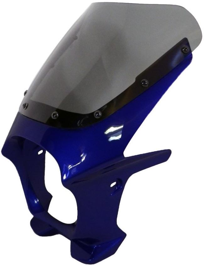 World Walk ワールドウォーク ビキニカウル・バイザー 汎用ビキニカウル DS-01 カラー:パールスズキディープブルー スクリーンカラー:クリア スクリーンタイプ:AERO
