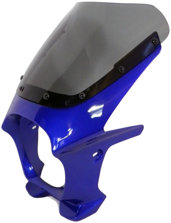 World Walk ワールドウォーク ビキニカウル・バイザー 汎用ビキニカウル DS-01 カラー:ディープパープリッシュブルーメタリックC スクリーンカラー:スモーク スクリーンタイプ:AERO