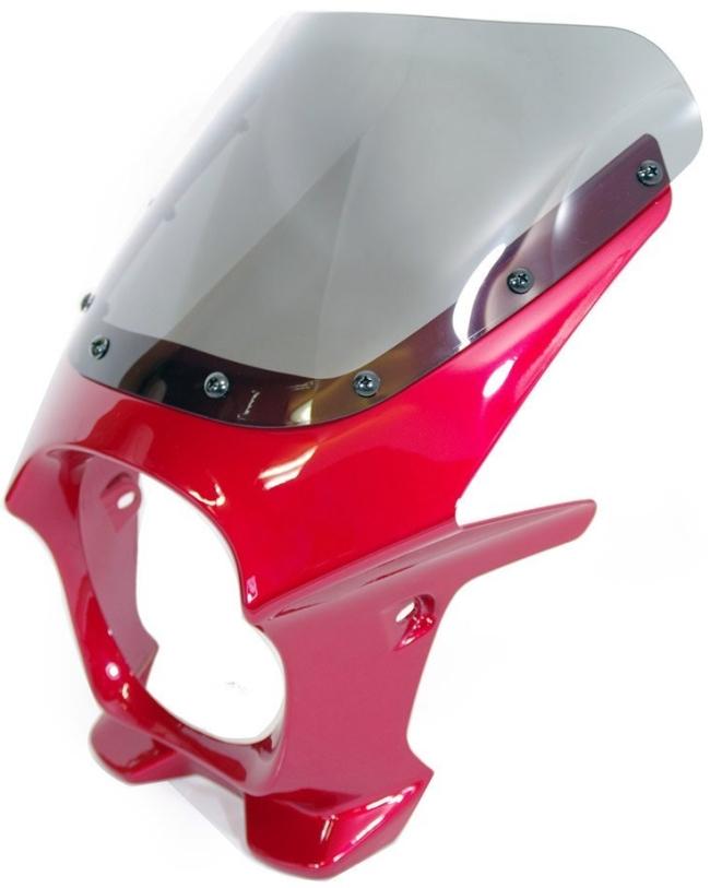 World Walk ワールドウォーク ビキニカウル・バイザー 汎用ビキニカウル DS-01 カラー:パッションレッド スクリーンカラー:クリア スクリーンタイプ:AERO