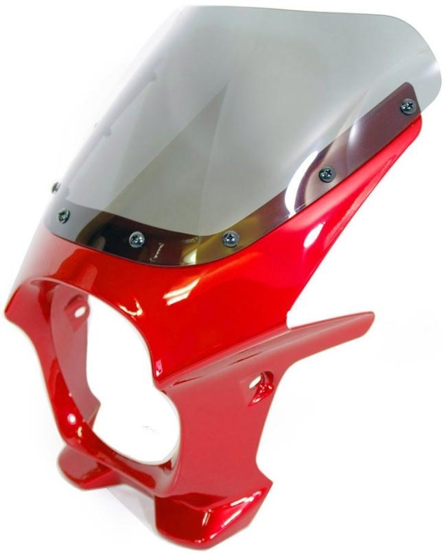 World Walk ワールドウォーク ビキニカウル・バイザー 汎用ビキニカウル DS-01 カラー:イタリアンレッド スクリーンカラー:クリア スクリーンタイプ:R