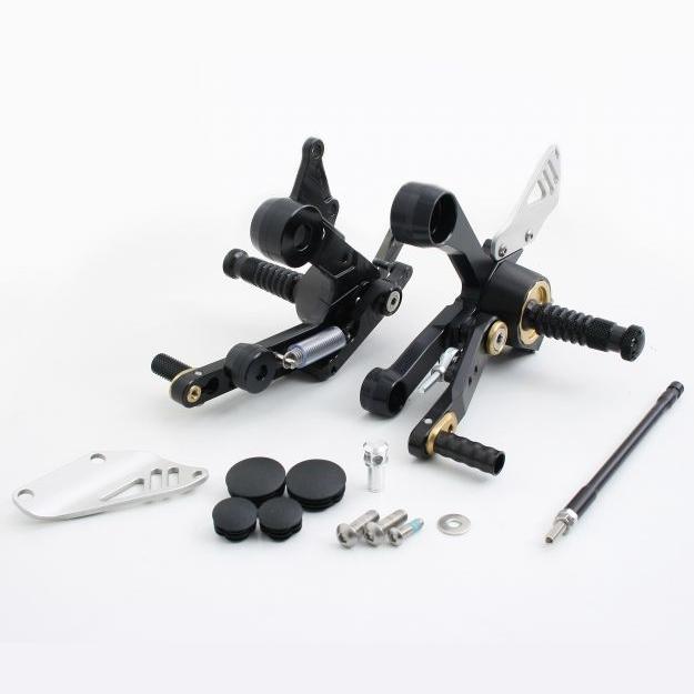 GILLES TOOLING ギルズツーリング バックステップ 可変ステップ カラー:ブラック/レッド MT-09 14-17、XSR900 16