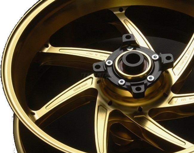 MARCHESINI マルケジーニ ホイール本体 アルミニウム鍛造ホイール M7RS Genesi [ジェネシ] カラー:ITALY GOLD(ゴールドメタリック) Z1000 (水冷) ニンジャ1000 (Z1000SX)