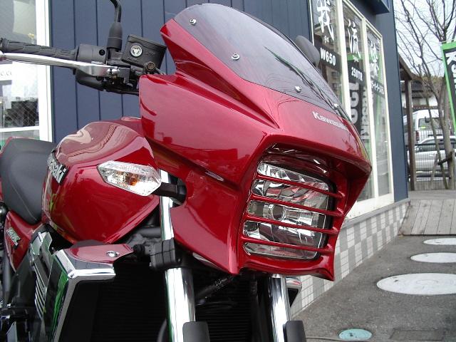 PLEASURE プレジャー ヘッドライトステー・ブラケット ヘッドライトルーバー カラー:メタリックインペリアルレッド ZRX1200DAEG [ダエグ]