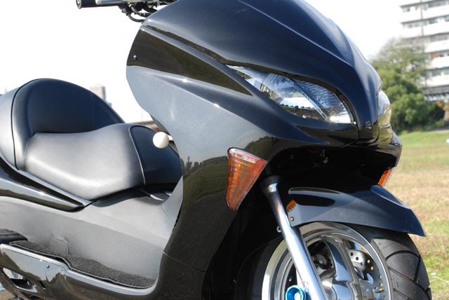 Rible リブレ スクーター外装 スムージングサイドパネル カラー:パールサイバーブラック FORZA[フォルツァ](MF08)