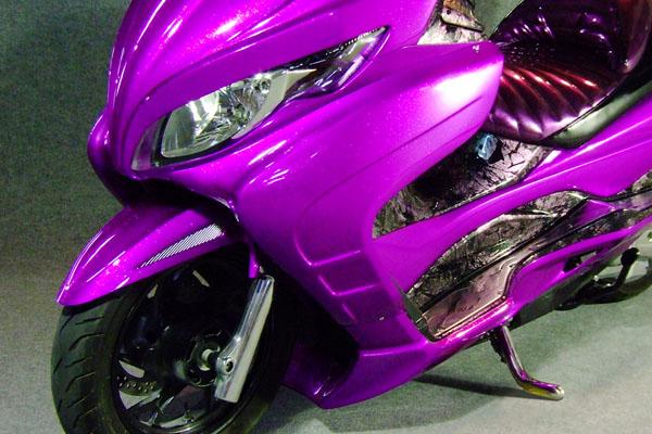 WARRIORZ ウォーリアーズ スクーター外装 スカイウェイブ用 サイドカウル カラー:パールミラージュホワイト(YPA)