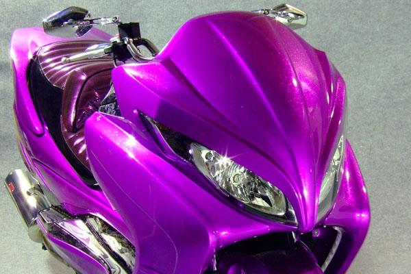 WARRIORZ ウォーリアーズ スクーター外装 スカイウェイブ用 エアロフェイス カラー:パールネブラーブラック(YAY)