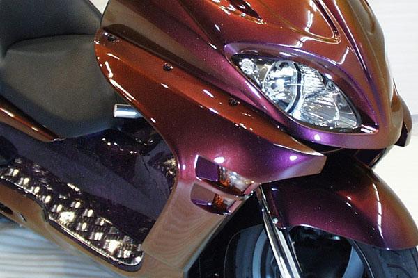 WARRIORZ ウォーリアーズ スクーター外装 フォルツァ MF08用 サイドカウル V1(バージョンワン) カラー:パールサイバーブラック FORZA[フォルツァ](MF08)