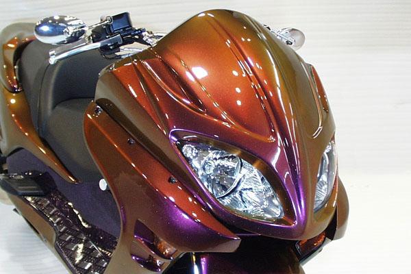 WARRIORZ ウォーリアーズ スクーター外装 フォルツァ MF08用 エアロフェイス V1(バージョンワン) カラー:パールサイバーブラック/後期モデル FORZA[フォルツァ](MF08)