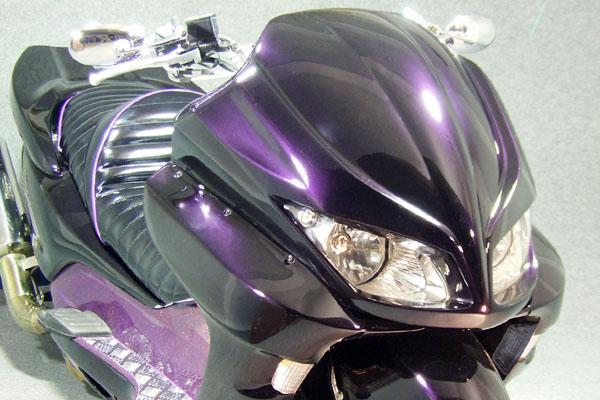 WARRIORZ ウォーリアーズ スクーター外装 フォルツァ MF08用 エアロフェイス V2(バージョンツー) カラー:ピュアブラック FORZA[フォルツァ](MF08)