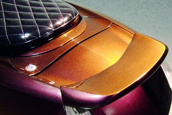 WARRIORZ ウォーリアーズ スクーター外装 マグザム用 穴埋めパネル カラー:シルキーゴールド MAXAM [マグザム] SG17J MAXAM [マグザム] SG21J