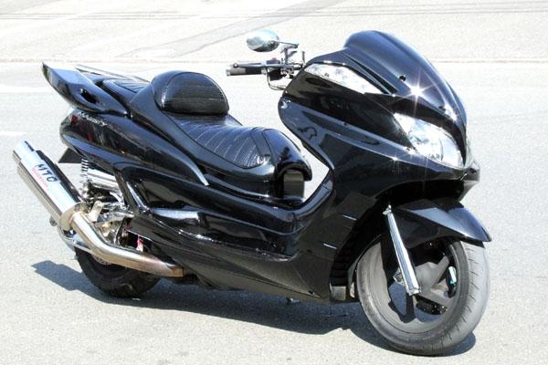 WARRIORZ ウォーリアーズ スクーター外装 グランドマジェスティ用 サイドカウル V1(バージョンワン) カラー:ブラックメタリックX