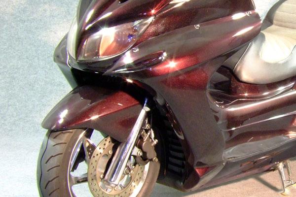 WARRIORZ ウォーリアーズ スクーター外装 グランドマジェスティ用 サイドカウル V2(バージョンツー) カラー:ディープパープリッシュブルーメタリック3