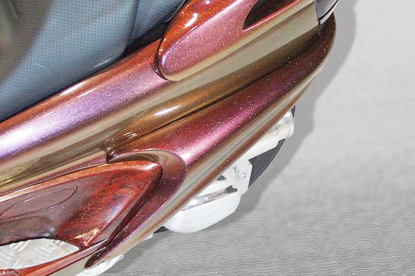 WARRIORZ ウォーリアーズ スクーター外装 マジェスティ用 サイドフラップ V1(バージョンワン) カラー:ベリーダークバイオレット