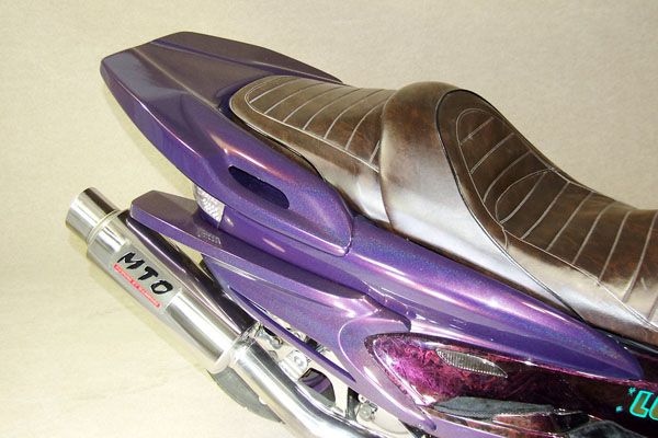 WARRIORZ ウォーリアーズ スクーター外装 マジェスティ用 ジェットフラップ V2(バージョンツー) カラー:ベリーダークオレンジ(ブラウン)