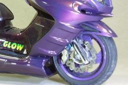 WARRIORZ ウォーリアーズ マジェスティ用 フロントフェンダー V2(バージョンツー) カラー:ビビッドレッドカクテル1