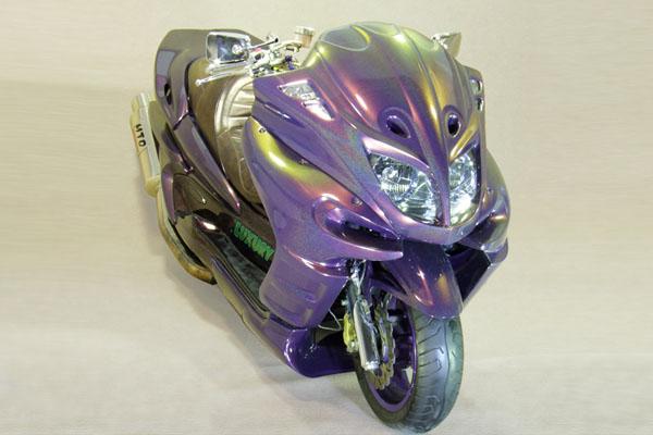 WARRIORZ ウォーリアーズ スクーター外装 マジェスティ用 エアロフェイス V2(バージョンツー) カラー:ベリーダークバイオレット
