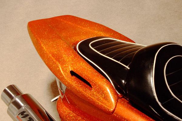 WARRIORZ ウォーリアーズ スクーター外装 マジェスティ用 リアウイング V3(バージョンスリー) カラー:ベリーダークオレンジ(ブラウン)