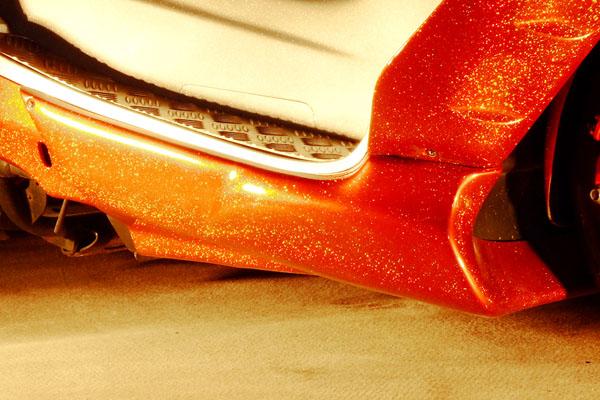 WARRIORZ ウォーリアーズ スクーター外装 マジェスティ用 アンダーカウル V3(バージョンスリー) カラー:ベリーダークオレンジ(ブラウン)