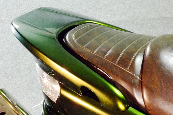 WARRIORZ ウォーリアーズ スクーター外装 マジェスティ用 リアウイング V4(バージョンフォー) カラー:ベリーダークオレンジ(ブラウン)