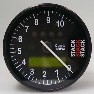 STACK スタック タコメーター ST700SR タックタイマー ダッシュ・システム ベースキット メーターパネルカラー:クラシックブラック(針=ホワイト) 表示回転数:0-6000-15000rpm