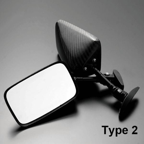 A-TECH エーテック Aテック ミラー類 フルアジャスタブルドライカーボンミラー ネイキッドモデル汎用 シャフトタイプ:回転シャフト ネジタイプ:正ネジ/正ネジ ミラータイプ:2