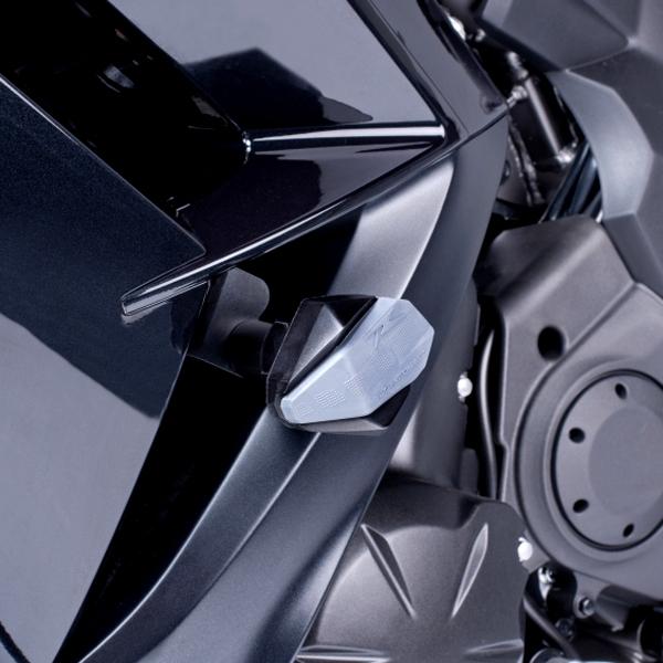 Puig プーチ ガード・スライダー クラッシュパッド R12タイプ カラー:ホワイト ER-6f