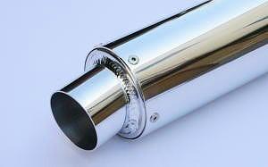 K2TEC ケイツーテック バッフル・消音装置 汎用アルミサイレンサー 50.8スラッシュ フックタイプ 外径:Φ100 長さ:500mm