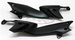 CARBONVANI カーボンバーニ シートサイドカバー クリア塗装:つや無 左用 RIVALE800 [リヴァーレ]