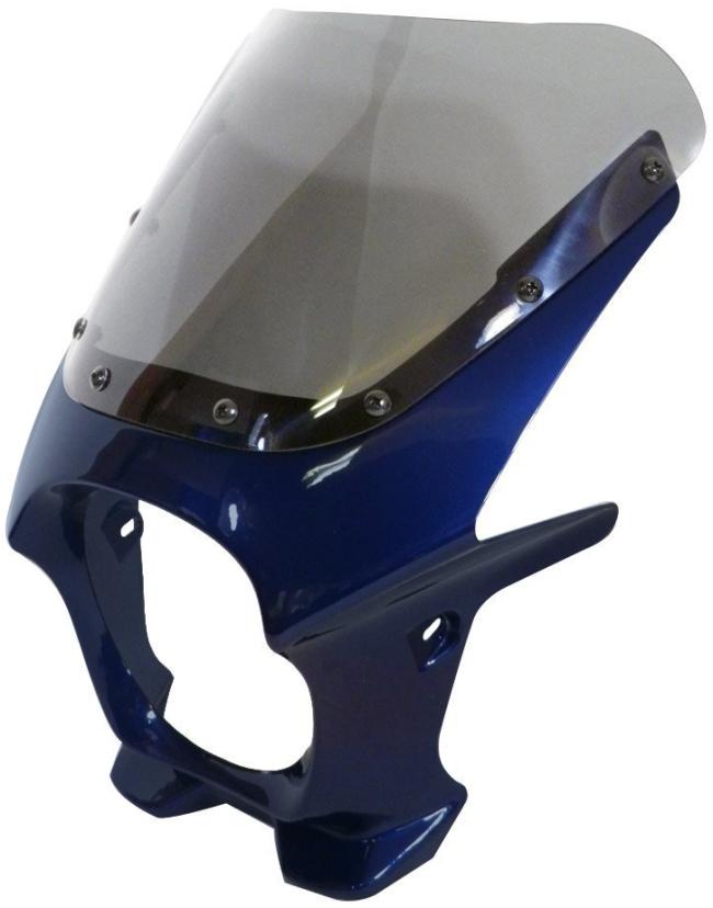 World Walk ワールドウォーク ビキニカウル・バイザー 汎用ビキニカウル DS-01 カラー:キャンディーグレートブルー スクリーンカラー:スモーク スクリーンタイプ:R