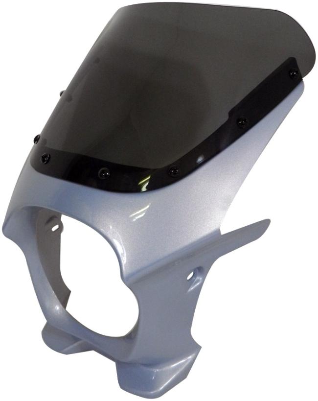 World Walk ワールドウォーク ビキニカウル・バイザー 汎用ビキニカウル DS-01 カラー:ムーンライトシルバー スクリーンカラー:スモーク スクリーンタイプ:AERO