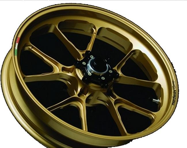 MARCHESINI マルケジーニ ホイール本体 アルミニウム鍛造ホイール M10S Kompe Evo [コンペエボ] カラー:ITALY GOLD(ゴールドメタリック) ZX-14R ZZR1400 (ZX-14)