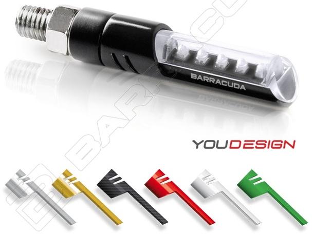 BARRACUDA バラクーダ IDEA e-marked LED ウインカー ウインカーインサートカラー:ブラック(インサートなし)
