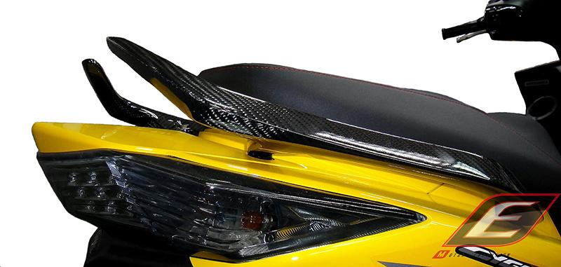 EPIC エピック バックレスト・グラブバー T-MAXスタイルグラブバー カーボン CYGNUS X 3型