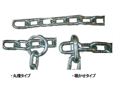 中野製鎖工業 ナカノセイサコウギョウ チェーンロック 超硬張鋼チェーン 1m(16Φ) エンドリング:覗かせタイプ