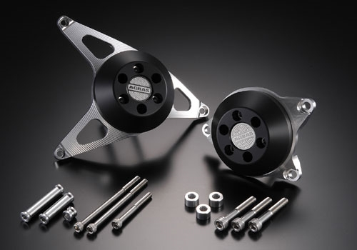 AGRAS アグラス ガード・スライダー レーシングスライダー カラー:ジュラコン/ブラック FZ1