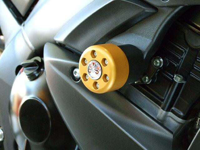 【ポイント5倍開催中!!】【クーポンが使える!】 P&A International パイツマイヤーカンパニー ガード・スライダー 衝撃吸収ダンパー内蔵クラッシュパッド X-Pad カラー:チタン YZF-R1