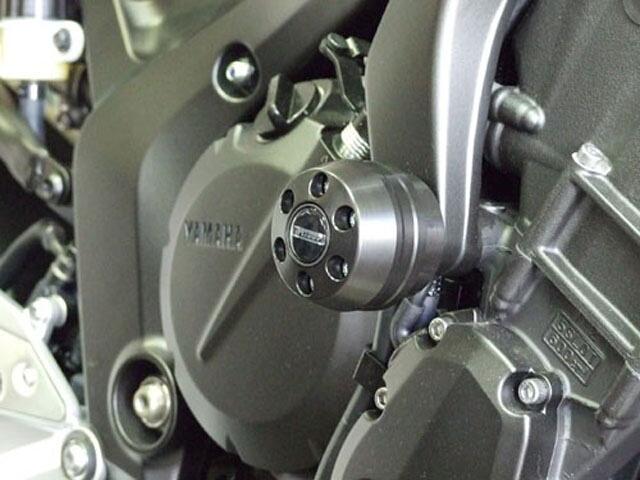 P&A International パイツマイヤーカンパニー ガード・スライダー 衝撃吸収ダンパー内蔵クラッシュパッド X-Pad ショート (45mm) カラー:チタン FZ6 FZ6 FAZER [フェザー]