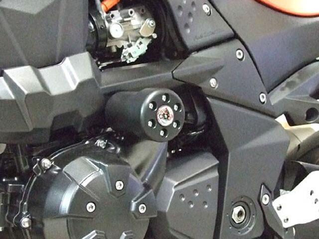 P&A International パイツマイヤーカンパニー ガード・スライダー 衝撃吸収ダンパー内蔵クラッシュパッド X-Pad カラー:レッド Z1000(水冷) 07-09