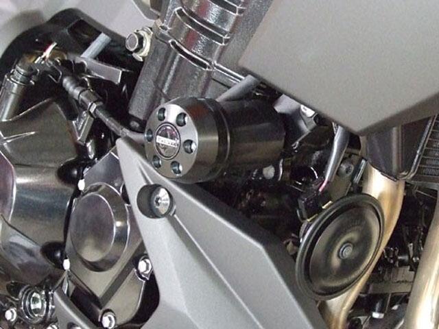 P&A International パイツマイヤーカンパニー ガード・スライダー 衝撃吸収ダンパー内蔵クラッシュパッド X-Pad カラー:アルミニウムシルバー Z1000(水冷) 10-