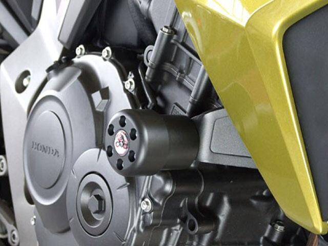 P&A International パイツマイヤーカンパニー ガード・スライダー 衝撃吸収ダンパー内蔵クラッシュパッド X-Pad ロング(70mm) カラー:チタン CB1000R