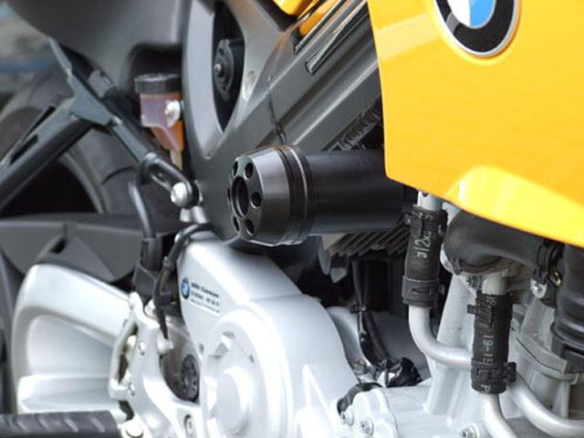 P&A International パイツマイヤーカンパニー ガード・スライダー 衝撃吸収ダンパー内蔵クラッシュパッド X-Pad ショート(90mm) カラー:アルミニウムシルバー F800S