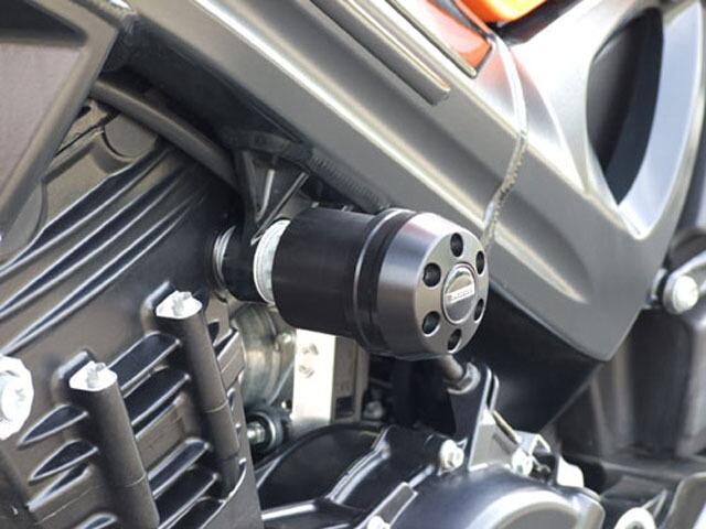 【ポイント5倍開催中!!】【クーポンが使える!】 P&A International パイツマイヤーカンパニー ガード・スライダー 衝撃吸収ダンパー内蔵クラッシュパッド X-Pad ショート(70mm) カラー:アルミニウムシルバー F800R