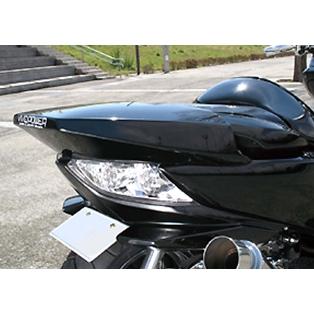VIVIDPOWER ビビッドパワー スクーター外装 リアスポイラー カラー:グラファイトブラック FORZA[フォルツァ](MF10)