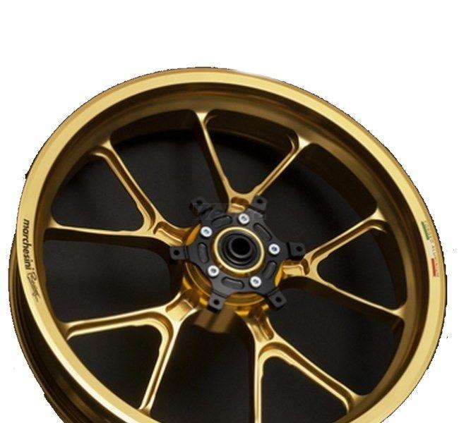 MARCHESINI マルケジーニ ホイール本体 アルミニウム鍛造ホイール M10S Motard-STREET [モタードストリート] カラー:ANODIZING GOLD(アルマイトゴールド) WR250R WR250X