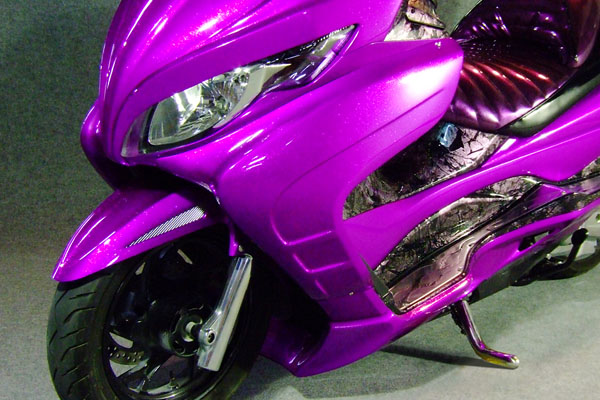 WARRIORZ ウォーリアーズ スクーター外装 スカイウェイブ用 サイドカウル カラー:グラススパークルブラック(YVB)